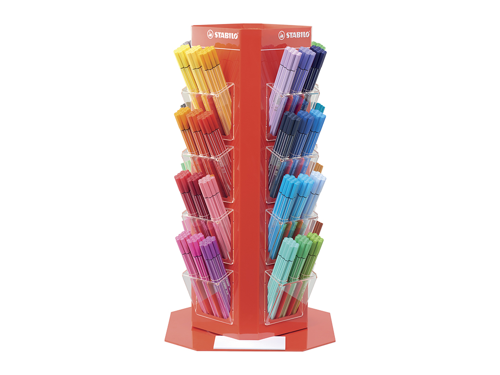 Espositore Stabilo Pen 68 480 pz. assortiti