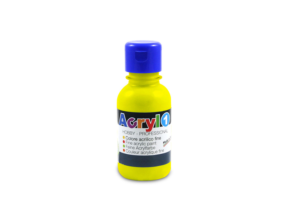 Tempera acrilica 125ml. - Giallo primario
