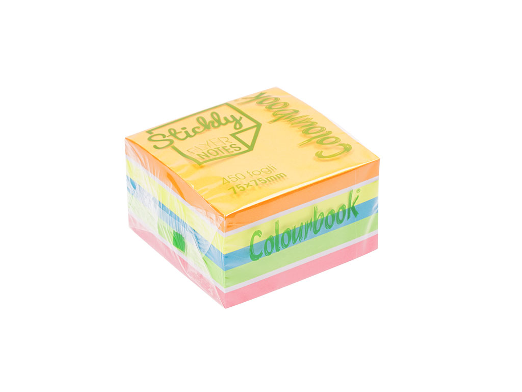 Cubo Stickly Notes Fluo 450gr.