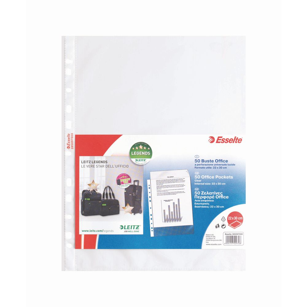 Buste forate Office 22x30 liscia 50pz.
