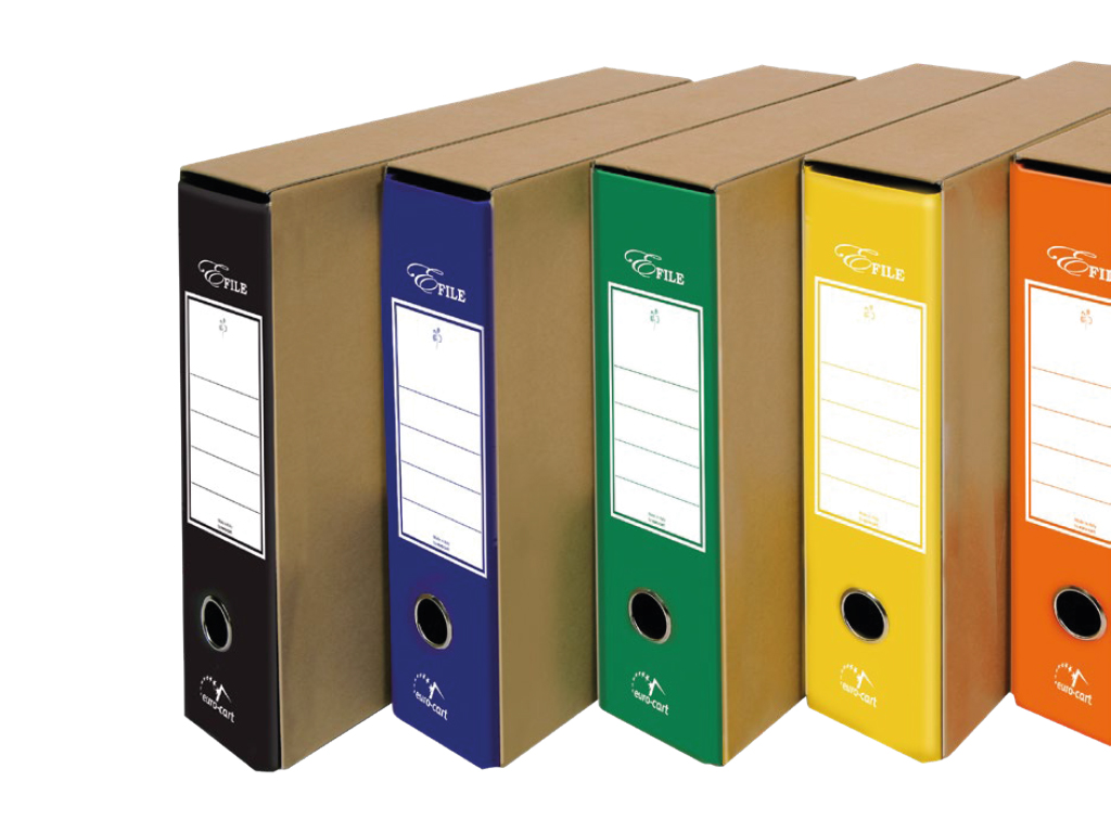 Registratori Dorso 8 E-File Eco - colori assortiti