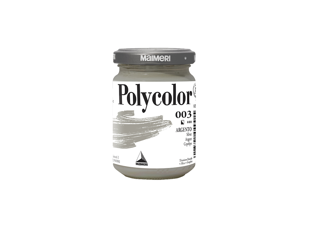 Vasetto Polycolor 140ml. - Argento