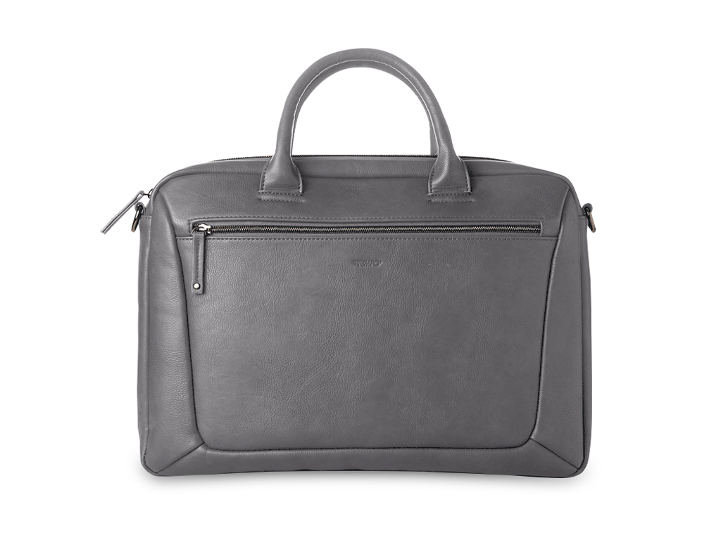 Borsa porta PC Slim Gate in ecopelle - Grigio
