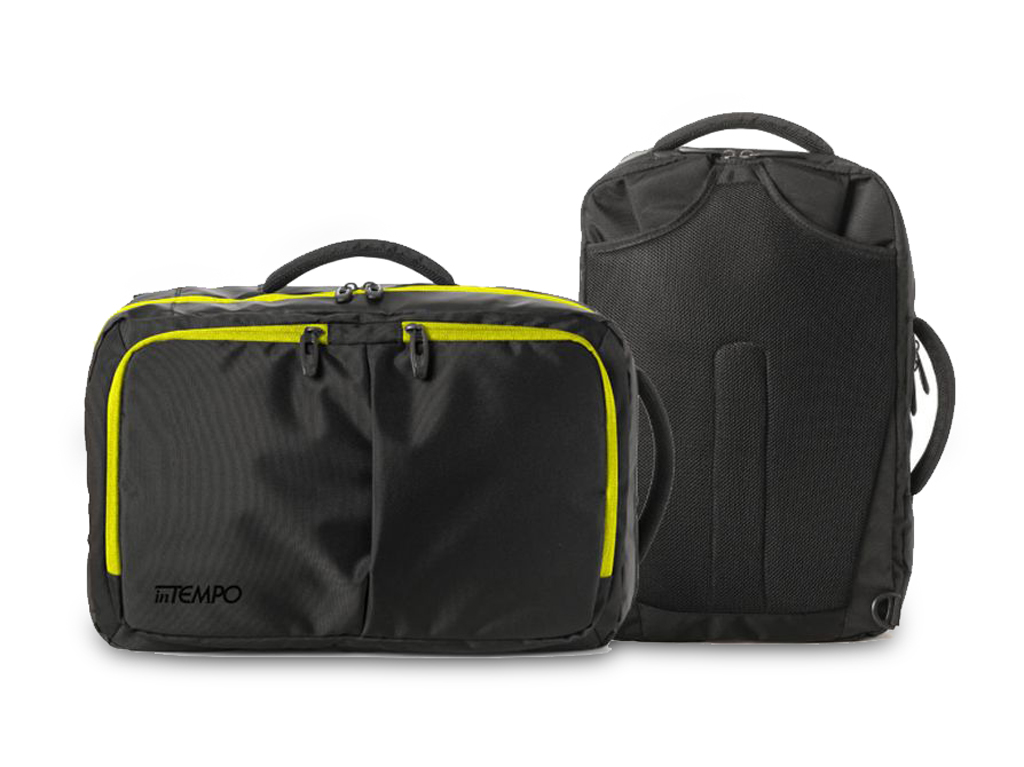 Borsa Bi-Bag Blackout - Nero/Verde Fluo