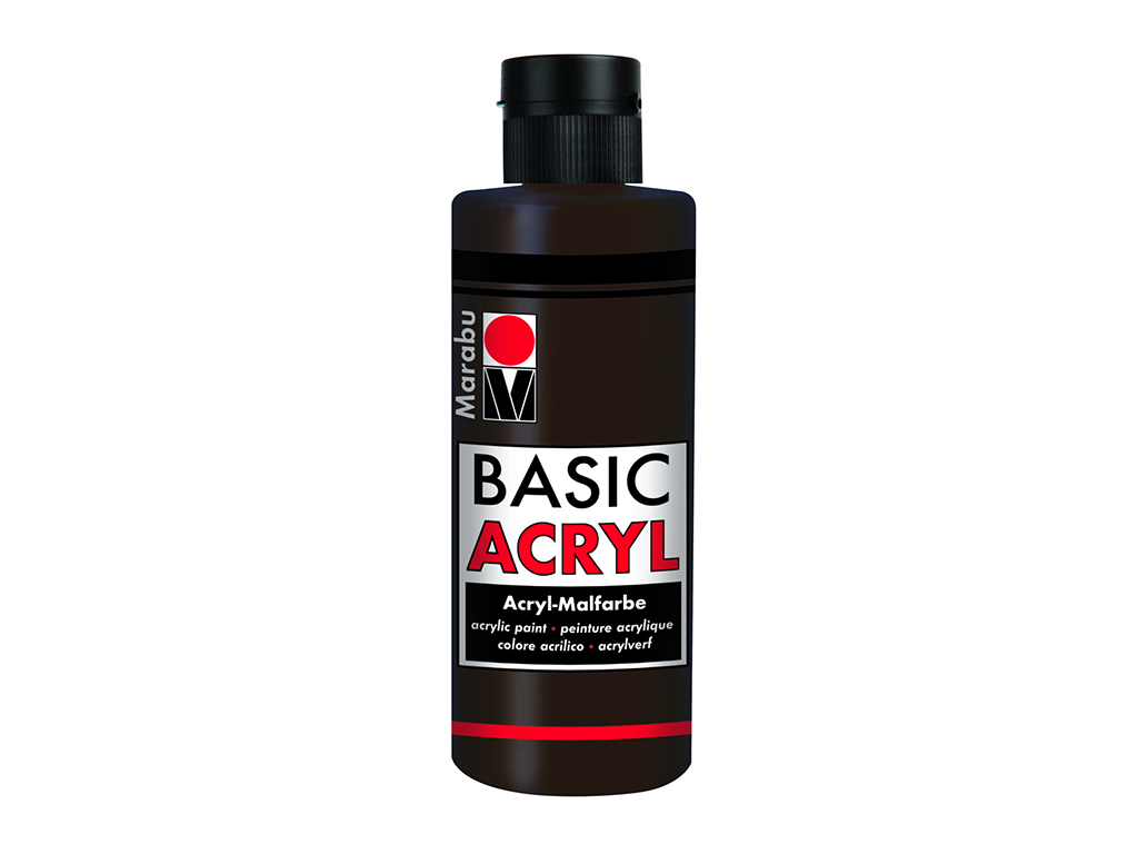 Basic Acryl 80ml. - Marrone scuro