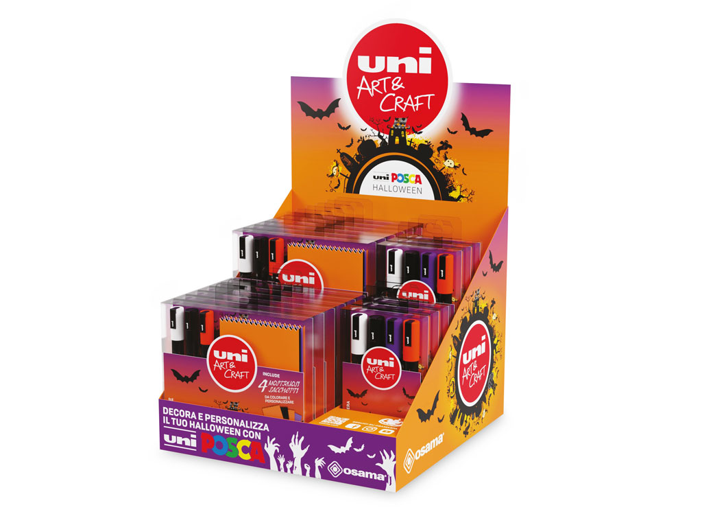 Espositore Uni Posca 18 Kit Halloween