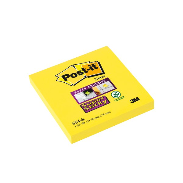 POST-IT 654 SUPER STICKY GIALLO PZ.12