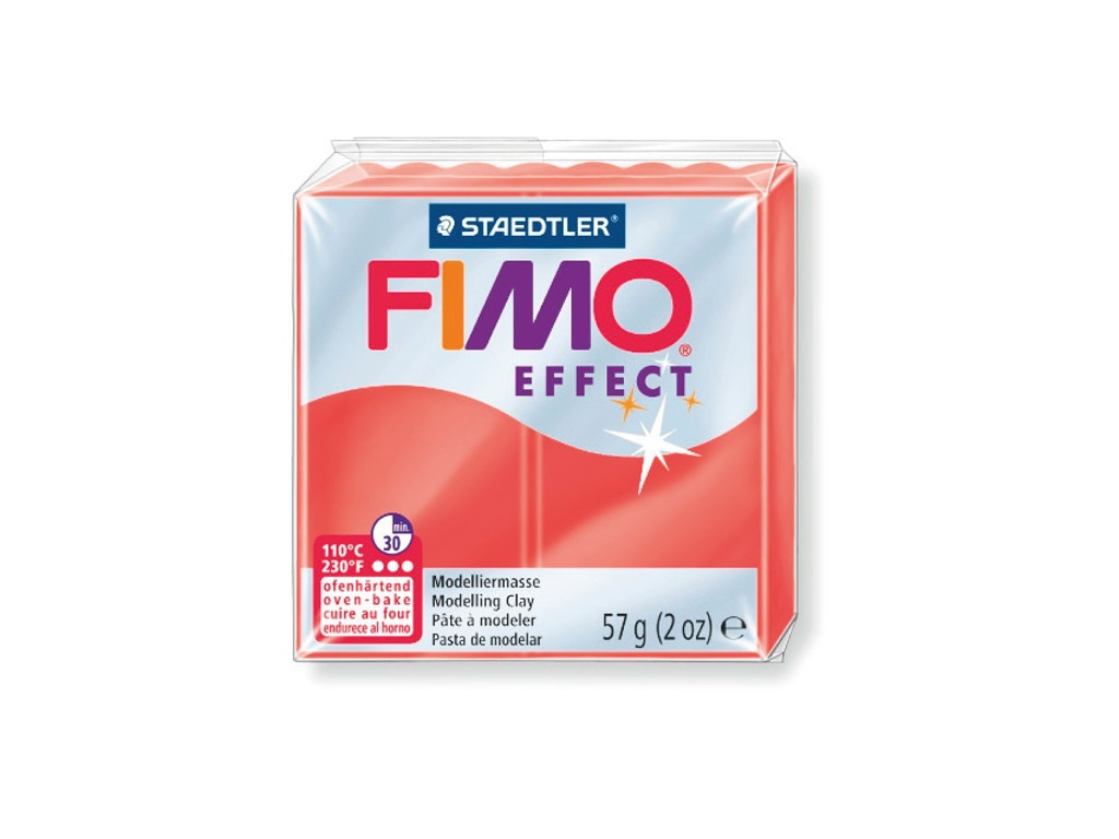 Panetto Fimo Effect 57gr. - Rosso traslucido